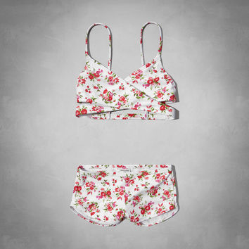 wrap style two-piece swimsuit