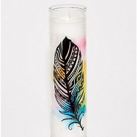 Water-Color Feather Candle - Spencer's