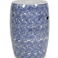 South Seas Chinese Blue Ceramic Garden Stool