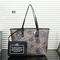 COACH 2018 trend women's shoulder portable Messenger bag two-piece #3