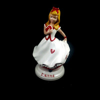 Vintage Porcelain Dianna Doll Figurine   Holland Mold   #9 Dutch  Valentines  FREE SHIPPING!