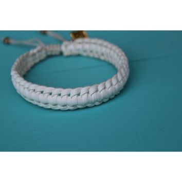 Braided White Rose Gonzales Bracelet