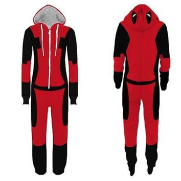 Deadpool Dead pool Taco  Cosplay Pajamas Sets Costume Man Marvel Adult Wade Wilson Superhero Woman Soft Cotton Sleepwear Onesuits Robes AT_70_6