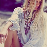 Free People Only My Dreams Pesant Blouse