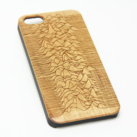 Joy Division Unknown Pleasures Wood Engraved iPhone 6s Case iPhone 6 Case iPhone 6s 6 Plus Cover Natural Wooden iPhone 5s 5 Case Samsung Galaxy s7 edge S6 Edge S5 Case D116