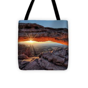 Mesa Arch Sunburst - Tote Bag