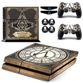 Assassins Creed Syndicate ps4 Vinyl Protective Sticker Decal Skin + 6GIFT For Sony Doulshock 4 Palystation 4 Console