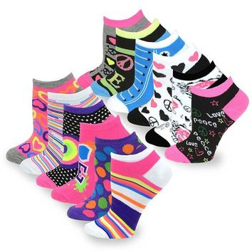 DCCK2JE TeeHee Women's Fashion No Show Fun Socks 12 Pairs Packs