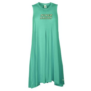 Official NCAA North Carolina at Charlotte - PPNCC05 Women's Sleeveless Spandex Pleat Dress