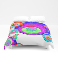 Colorful Secret Geometry | painting by Elisavet #society6 Duvet Cover by Azima