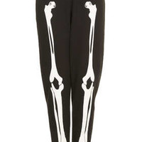 Skeleton Jogger By Tee And Cake - Black