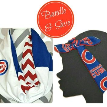 Cubs Scarf and or Headband