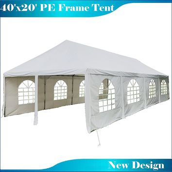 40'x20' PE Frame Tent Wedding Party Canopy Shelter - White
