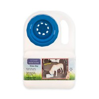 Look Who's Happy Waterboy Portable Dog Bowl in Blue/White