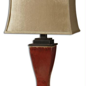 Table Lamp - Burnished Red Finish