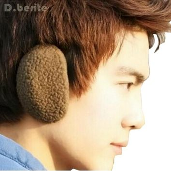 1 Pair Earcap Solid Unisex Winter Outdoors Bag Earmuffs Bandless Fleece Ear Warmers Men Women GDD8024