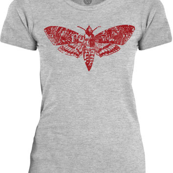 Big Texas Death Moth (Red) Womens Fine Jersey T-Shirt