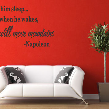 Let him Sleep... for Wall Art Deco Vinyl Decal Sticker Fast Shipping Vinyl Removable Letters (226)