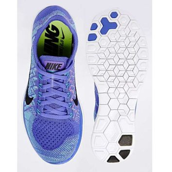 """NIKE"" FREE 4.0 FLYKNIT Fashion Women Casual Running Sport Shoes Sneakers Purple"