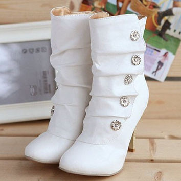 Women's Sexy Style PU Boots