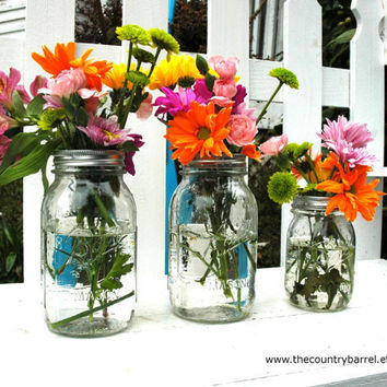 Ball Mason Jar Flower Vases or Potpourri by TheCountryBarrel
