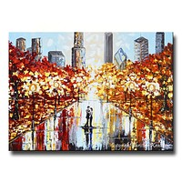 """GICLEE PRINT Art Abstract Painting Couple City Park Dance Modern PRINT CANVAS Prints Urban Grey Red Home Wall Decor LARGE sizes to 60"""" -Christine"""