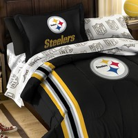 Pittsburgh Steelers 5-Piece Twin Bed Set (Stl Team)