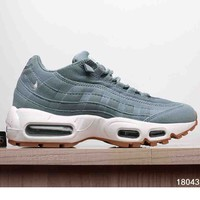 NIKE AIR MAX 95 MEN SHOES CONTRAST SOLES SNEAKERS SPORTS SHOES B-A-XIONGDI-UPING Grey