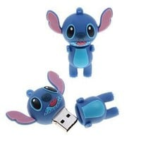High Quality 32 GB Stitch style USB flash drive - Blue
