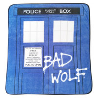 Doctor Who Bad Wolf TARDIS Comfy Throw