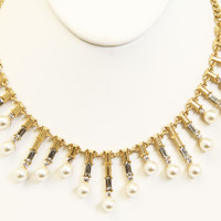 Pearl Panel Claudette Necklace