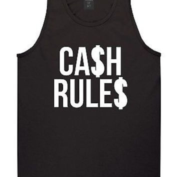 Kings of NY Cash Rules Tank Top T-Shirt Money Everything Around Me Hiphop Music