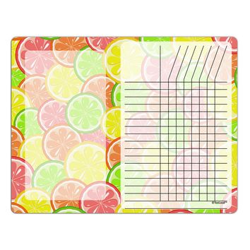 Colorful Citrus Fruits Chore List Grid Dry Erase Board All Over Print