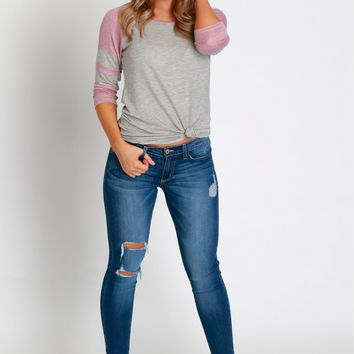 Ripped & Stitched Skinnies