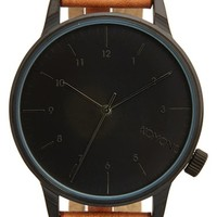 Men's Komono 'Winston' Round Dial Leather Strap Watch, 40mm