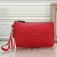 Tory Burch Women Fashion Leather Clutch Bag Tote Satchel