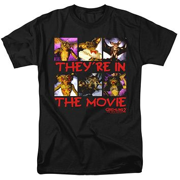 Gremlins 2 T-Shirt They're in the Movie Black Tee