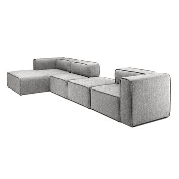 L-Shaped 3 Seater Left Sectional Chaise Sofa