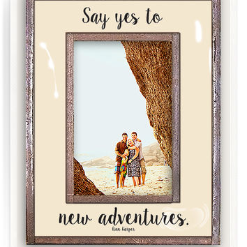 Say Yes To Adventures Copper & Glass Photo Frame
