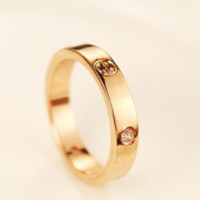 Cartier New fashion diamond women ring zircon accessories Golden