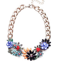 Flower Choker Necklace,SALE,Fashion Women Bib Chunky Chain Necklace,Gift for Her