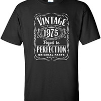40th Birthday Gift For Men and Women - Vintage 1975 Aged To Perfection Mostly Original Parts T-shirt Gift idea. More colors available S-17