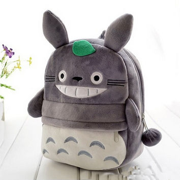 Children Totoro Cat Backpacks Kawaii School Bags For Teenagers Girls Kids Unisex Cute Cartoon Travel Kanken Backpacks 2016 New