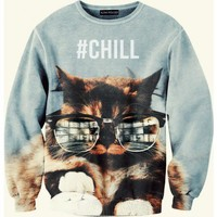 Chill cat hipster sweater from alohafromdeer.com