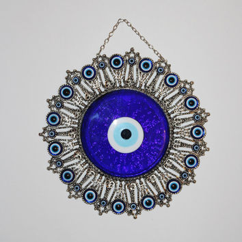 Evil Eye Wall Art, Wall Decor, Evil Eye, Turkish Authentic Handmade Evil Eye, Garden Decor, November Gift Idea