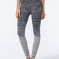Namawear Long Ombre Womens Yoga Pants Black/Grey  In Sizes