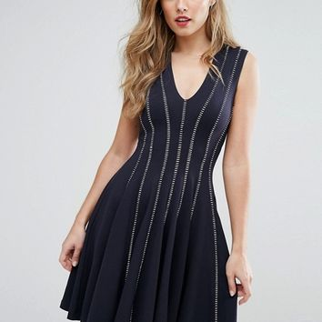 French Connection Modern Kantha Jersey Dress at asos.com