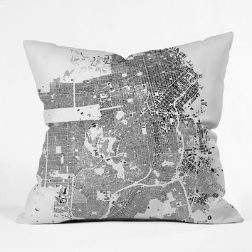 CityFabric Inc San Francisco White Throw Pillow