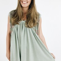 Dhalia Peasant Dress - Sage