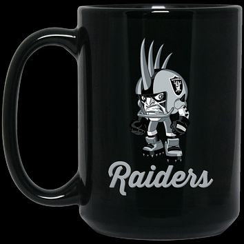 Raiders Mini Player v2 BM15OZ 15 oz. Black Mug